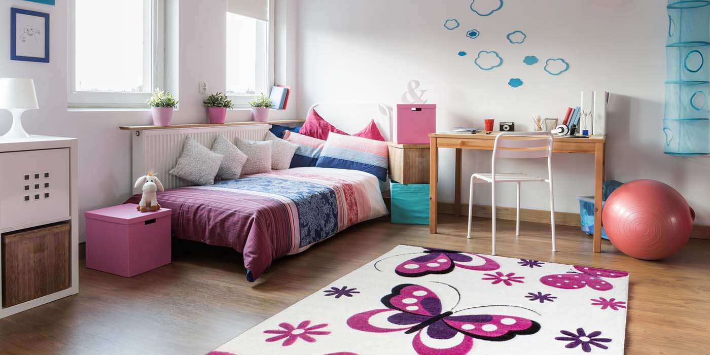 farbe kinderzimmer lila maedchen spielzimmer teppich teppiche violett 1. Black Bedroom Furniture Sets. Home Design Ideas